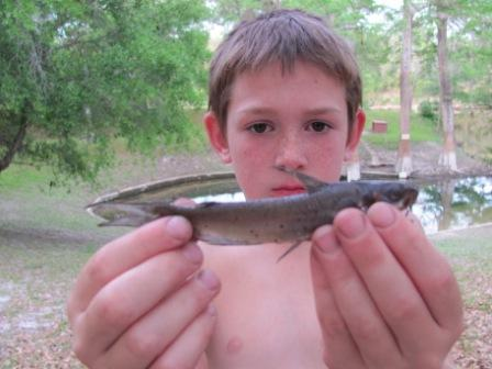 Young Boy with Little Fish