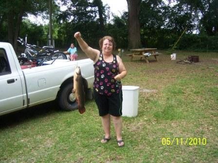 Woman with large Fish