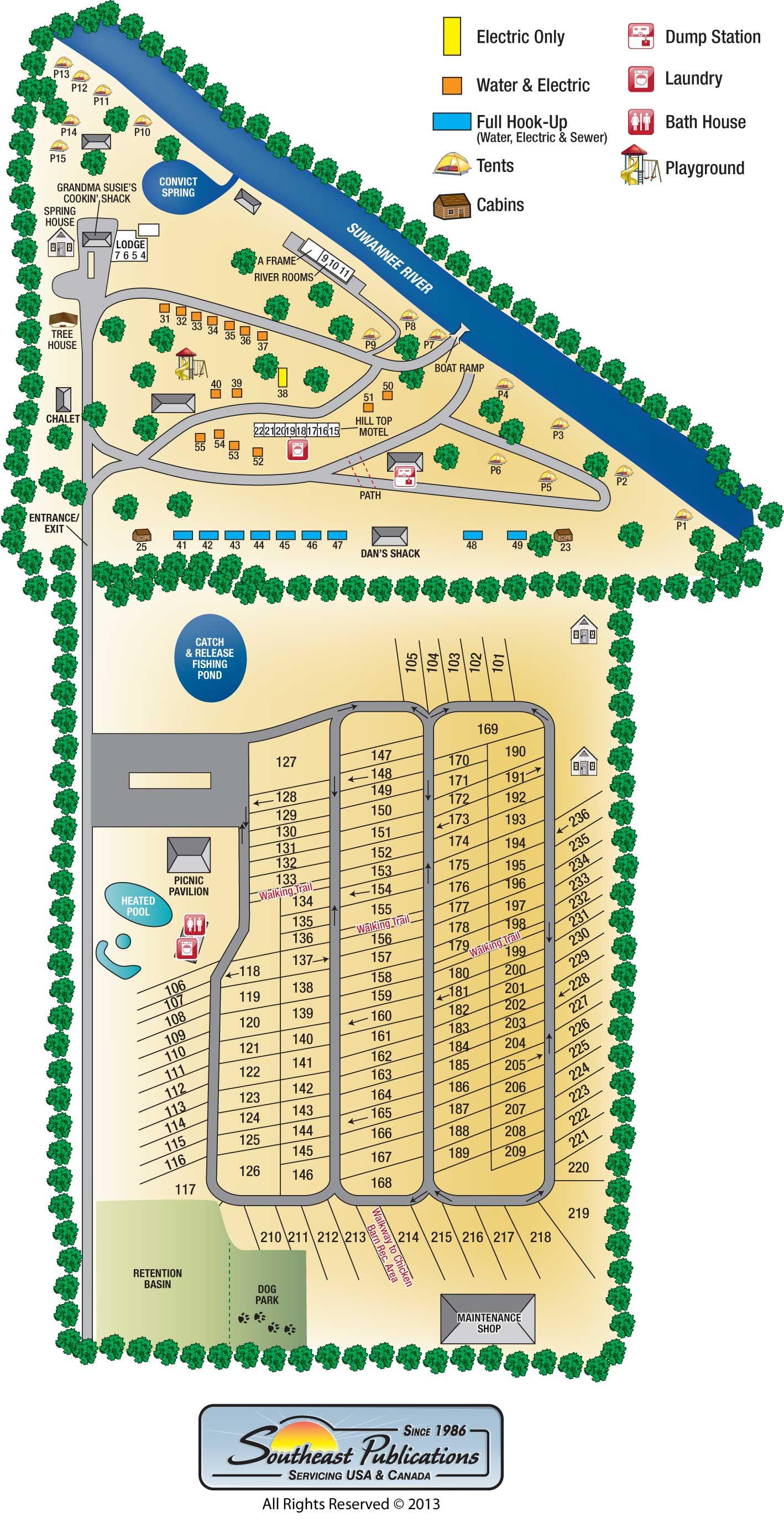 Campground Map Anastasia State Park Florida Pinterest Rainbow St - Florida map madeira beach