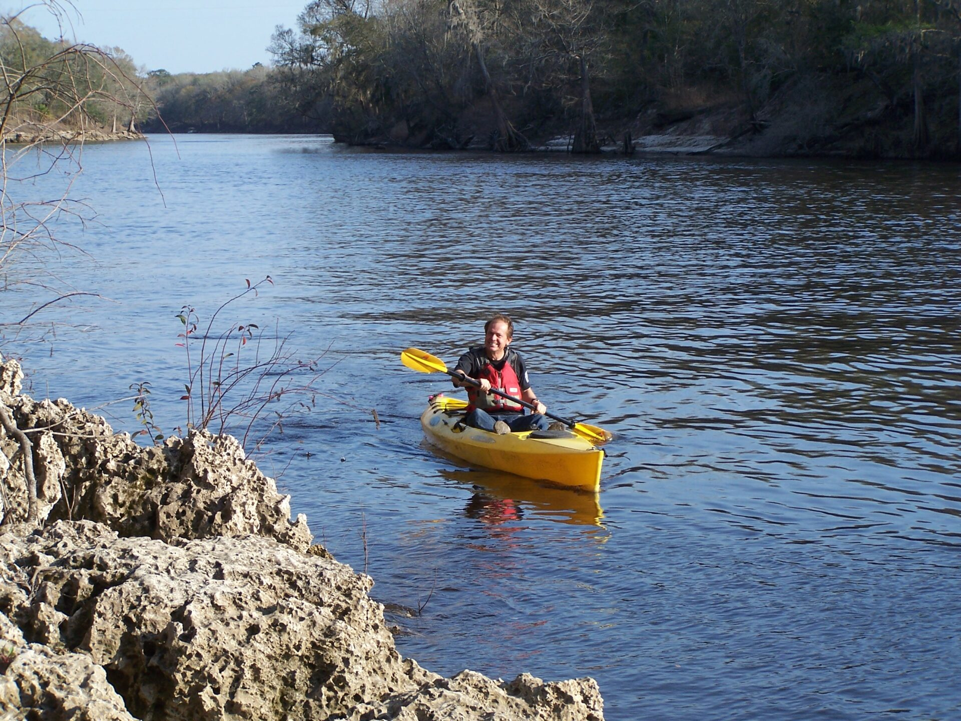 Mayo fl canoe kayak rentals and trips suwannee river for Campsites with fishing