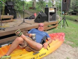 Mike Barth won the Kayak