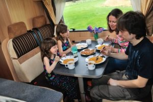 Family in RV