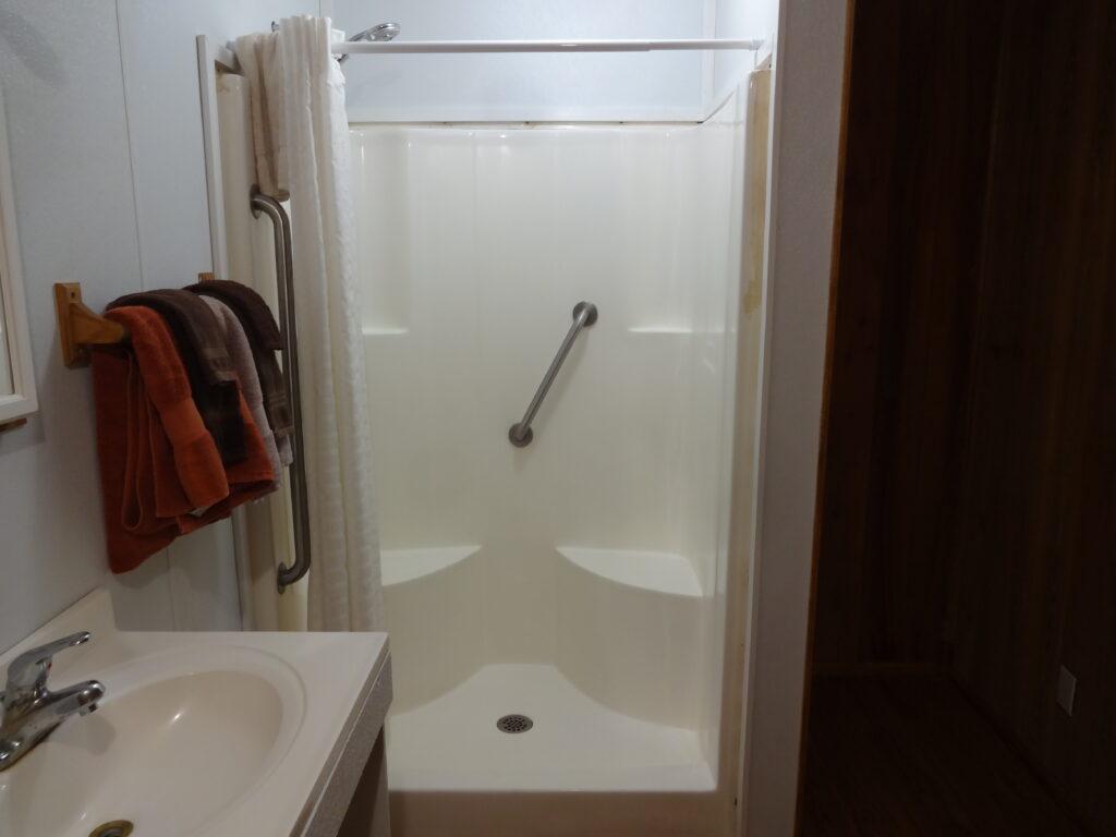 Shower & Sink at Spring House